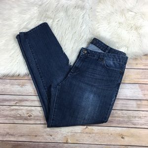 Micheal Kors Jeans Ankle Straight Leg Medium Wash